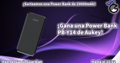 [Sorteo] Power Bank de 20.000 mAh de Aukey