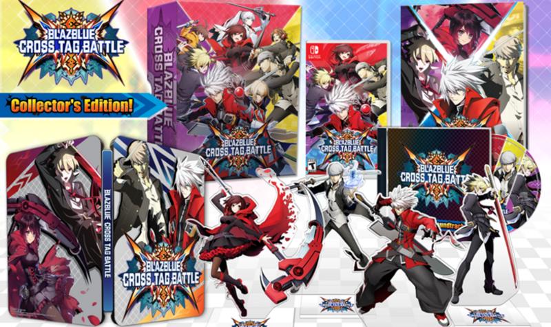 Resultado de imagen de edición coleccionista de blazblue: cross tag battle nintendo switch