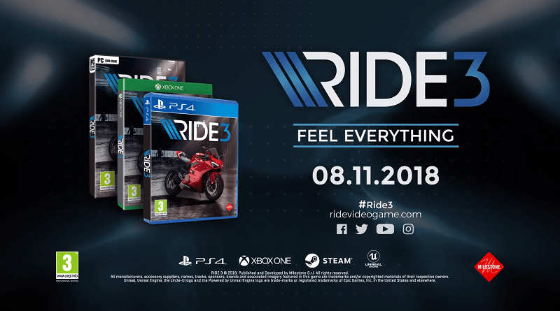 Ride 3 Announced