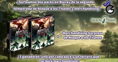 [Sorteo] Dos ediciones coleccionista en Blu-ray de la segunda temporada de Ataque a los Titanes y merchandising