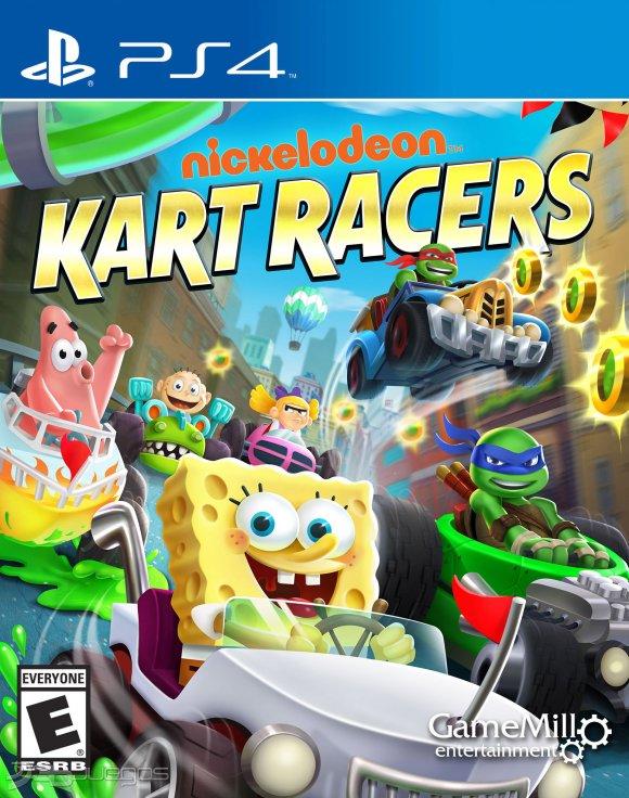 nickelodeon kart racers CARATULA