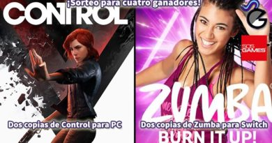[Sorteo] Dos copias digitales de Control para PC (Epic Games) y dos de Zumba Burn it up! para Switch